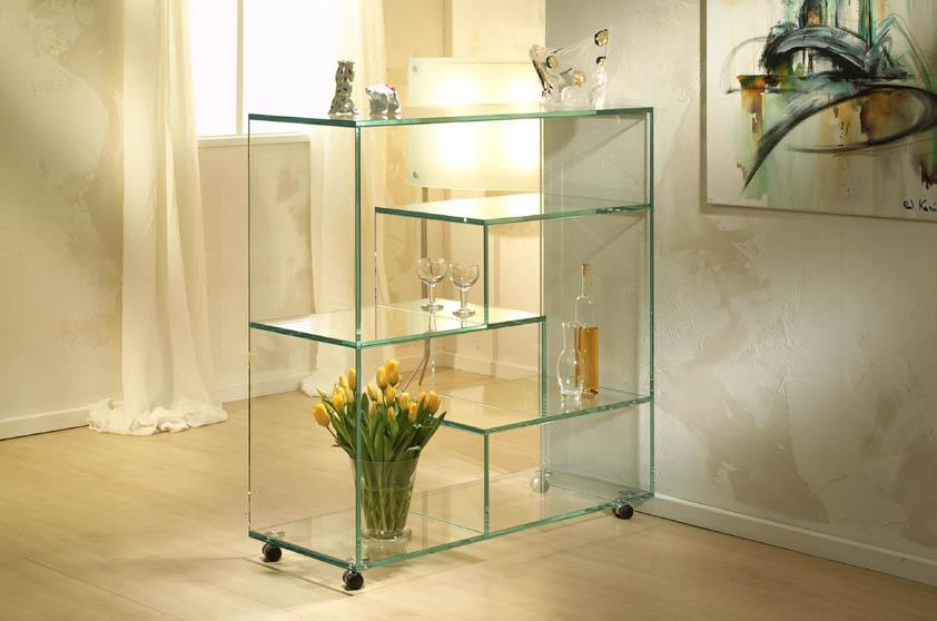 Полки из стекла в дизайне