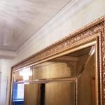 зеркальное пано в двойном багете