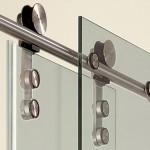 система раздвижных дверей для душевой