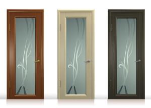 стекло в межкомнатные двери