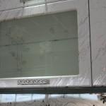 стекло с пескоструйным рисунком фон-матовый