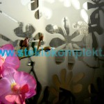 Зеркало-SMC-012-Цветы-бронза