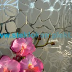 Зеркало-SMC-014-Цветы-ромашки-бронзовое