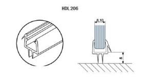 Профиль-ПВХ-стекло-пол-HDL-206