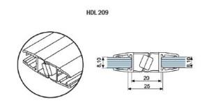 Профиль-ПВХ-стекло-стекло-магнитный-HDL-209