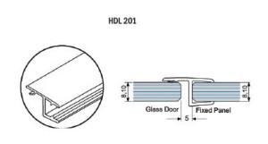 Профиль-ПВХ-стекло-стекло-HDL-201