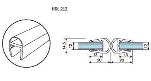 Профиль-ПВХ-стекло-стекло-HDL-212