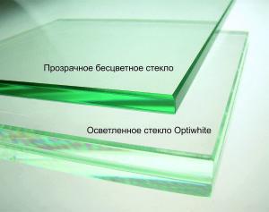 Стекло и осветленное стекло