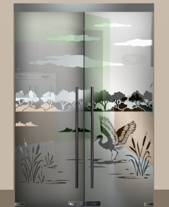 Стекло с рисунком Озеро (стр 11, каталог 1)