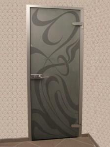 дверь с рисунком (02-112, стр 75, каталог 1) фон-матовый, двойное матирование