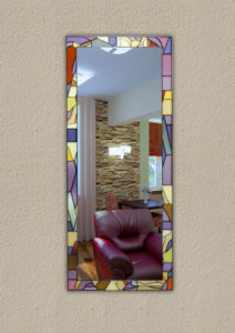 Зеркало с витражным рисунком