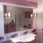 Зеркало в ванную комнату с фацетом