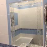 Зеркало в ванную с пескоструйным рисунком